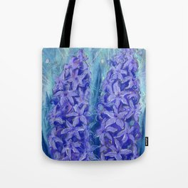 Hyacinths, blue and violet Tote Bag