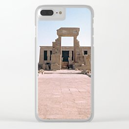Temple of Dendera, no. 2 Clear iPhone Case