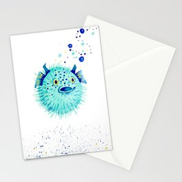 Neptune's Pufferfish Stationery Cards