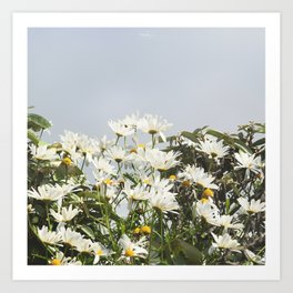Embrace a bouquet of flowers Art Print