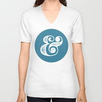 ampersand V-neck T-shirts featuring Ampersand by AndyGD