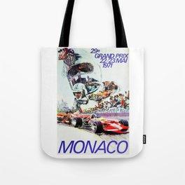 Gran Prix de Monaco, 1971, original vintage poster Tote Bag