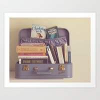 reading Art Prints featuring reading by Life Through the Lens
