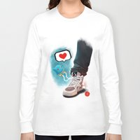 sneaker Long Sleeve T-shirts featuring sneaker Love by Dominik Gottherr