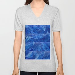 blues en tous sens / square blues Unisex V-Neck