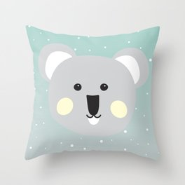 Cute Drop Bear Throw Pillow