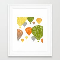 balloons Framed Art Prints featuring BALLOONS by ARCHIGRAF