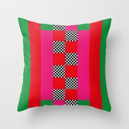 Lines and sqares, opening spaces. It seems a mouth. Throw Pillow