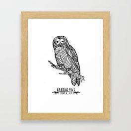 Barred Owl - Berea, KY Framed Art Print