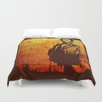 lincoln Duvet Covers featuring Abraham Lincoln by Saundra Myles