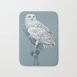 Secrets of the Snowy Owl Bath Mat