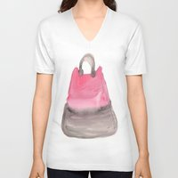 tote bag V-neck T-shirts featuring Tote 3 by ©valourine