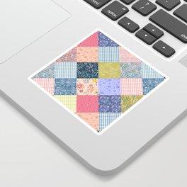 Bohemian diamond patchwork quilt Sticker