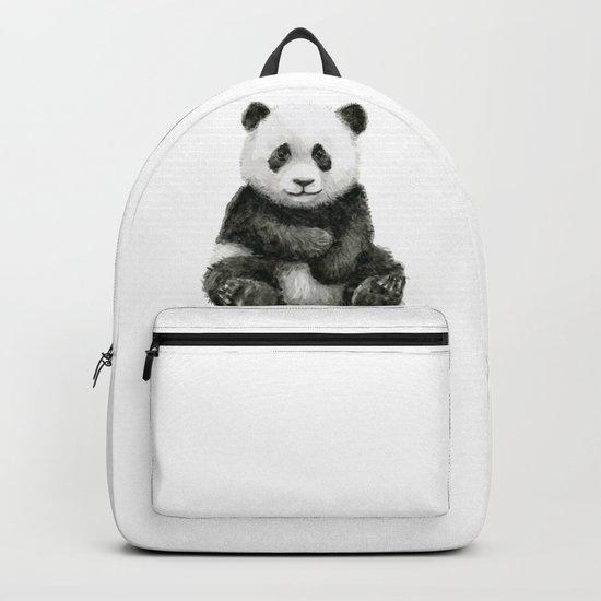 Panda Baby Watercolor Animal Art Backpack