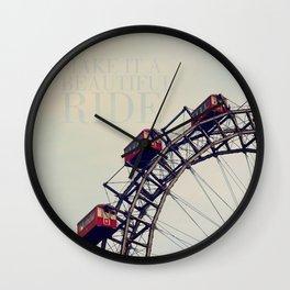 Make it a beautiful Ride! Wall Clock