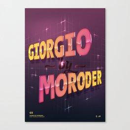Daft Punk: Giorgio by Moroder Canvas Print