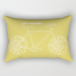 Sunflower Bike Rectangular Pillow