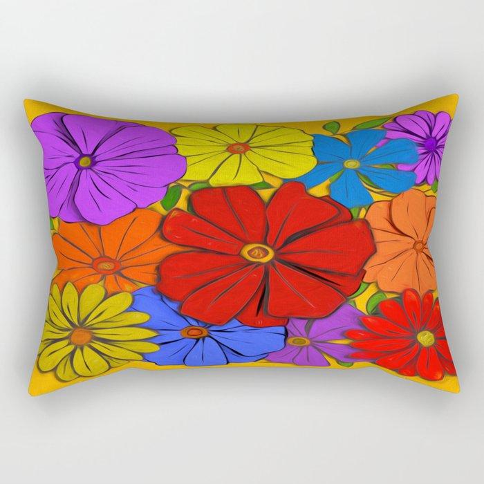Abstract #346 Flower Power #3 Rectangular Pillow