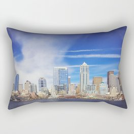 Seattle Skyline Rectangular Pillow