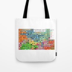 The Periodic Table of TV Animation Tote Bag