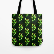 Abstract Watercolor Green Plant With Orange Berries Tote Bag