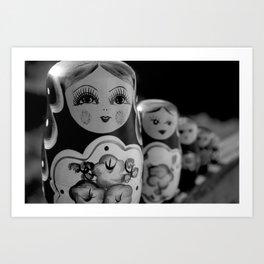 Wooden Dolls. Art Print