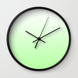 Green and white background Wall Clock
