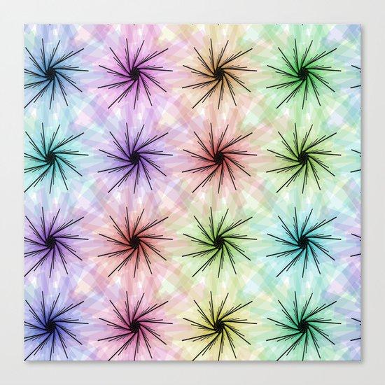 Color floral spiral Canvas Print