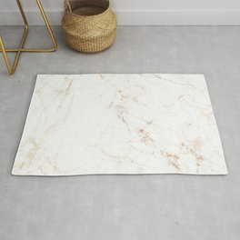 White Marble with Delicate Gold Veins Rug