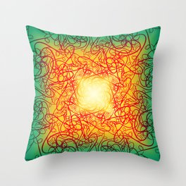 Symmetry 4: Love Throw Pillow