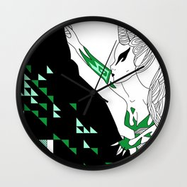 Capricorn / 12 Signs of the Zodiac Wall Clock