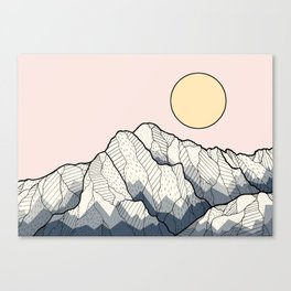 The sun and mountain Canvas Print