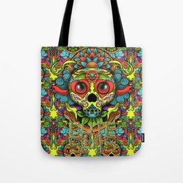 Cute Skull Dia de Los Muertos Tote Bag
