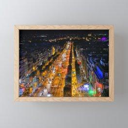 Champs Elysees Framed Mini Art Print
