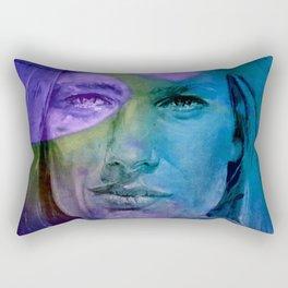 Le CLASH - turquoise Rectangular Pillow