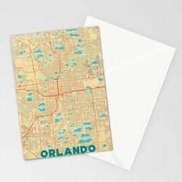 Orlando Map Retro Stationery Cards