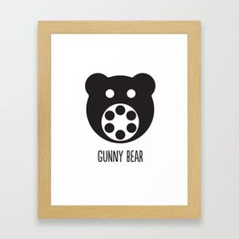 Gunny Bear Framed Art Print