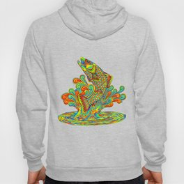 Psychedelic Rainbow Trout Fish Hoody