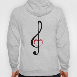 Heart music clef Hoody