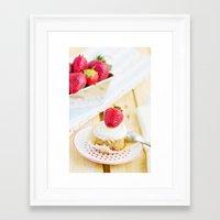 dessert Framed Art Prints featuring DESSERT by Ylenia Pizzetti