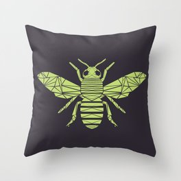 The Bee is not envious - Geometric insect design Throw Pillow