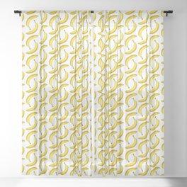 Yellow ripe banana Sheer Curtain