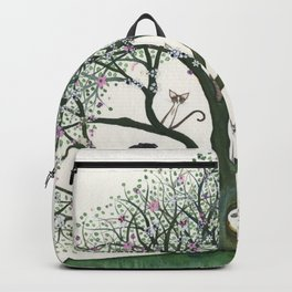 Pink Cheri Whimsical Cats in Tree Backpack