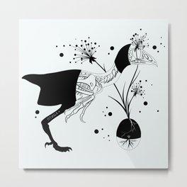 Bird's Skeleton Metal Print