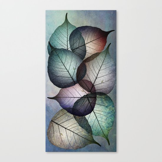 Autumn skeletons Canvas Print