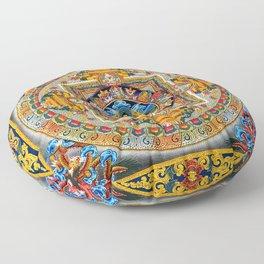 Buddhist Mandala Gold Tangka Wisdom Floor Pillow