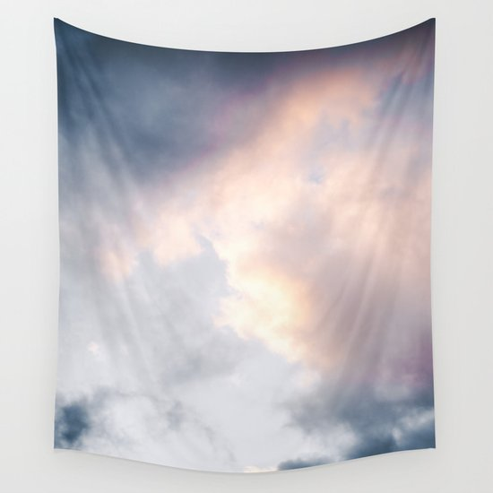 Creamy Clouds Wall Tapestry