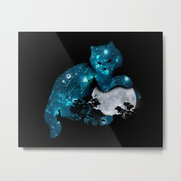 I can haz the moon Metal Print