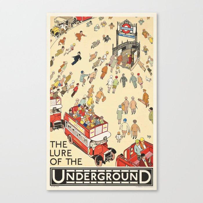 London Underground Vintage Leinwanddruck