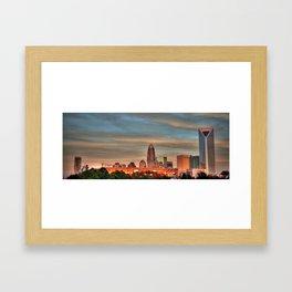 Charlotte Skyline Framed Art Print